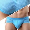 Moda curto triângulo malha underwear homens sexy modal briefs men underwear sexy 3d u convexo calcinha listrada # t
