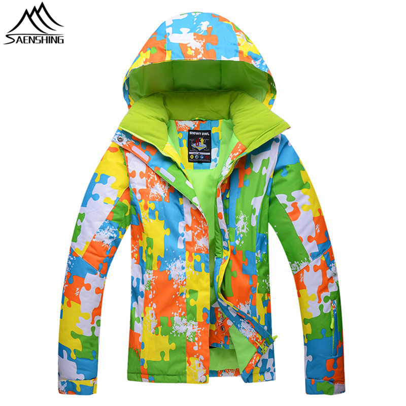 Saenshing Warm Winter Snowboard jacket Women Waterproof Breathable Ski Jacket snow coat female outdoor skiing ski clothing hot sale women ladies snowboard jacket waterproof breathable ski jacket female winter snow coat sport motorcycle anorak clothes