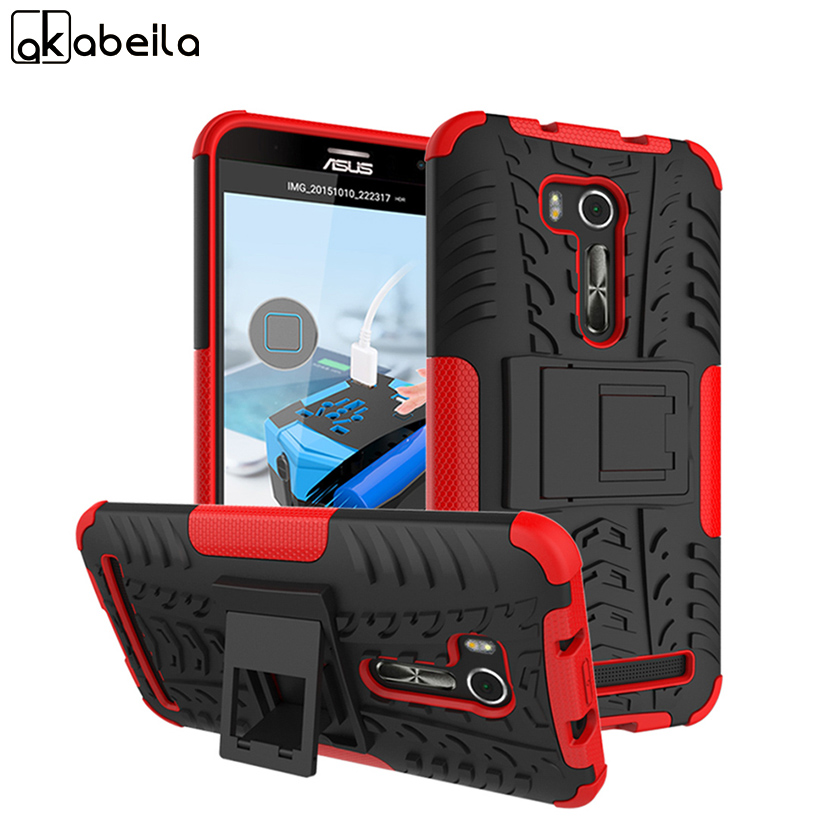 AKABEILA Military Armor Kickstand Mobile Phone Case For Asus ZenFone Go TV ZB551KL Cover ASUS_X013DB Back Cover PC+TPU
