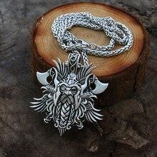 10 pcs viking Odin por Helena Rosova homens pingente de colar de pingente Pagão norse viking jóias cruz pingente corvo