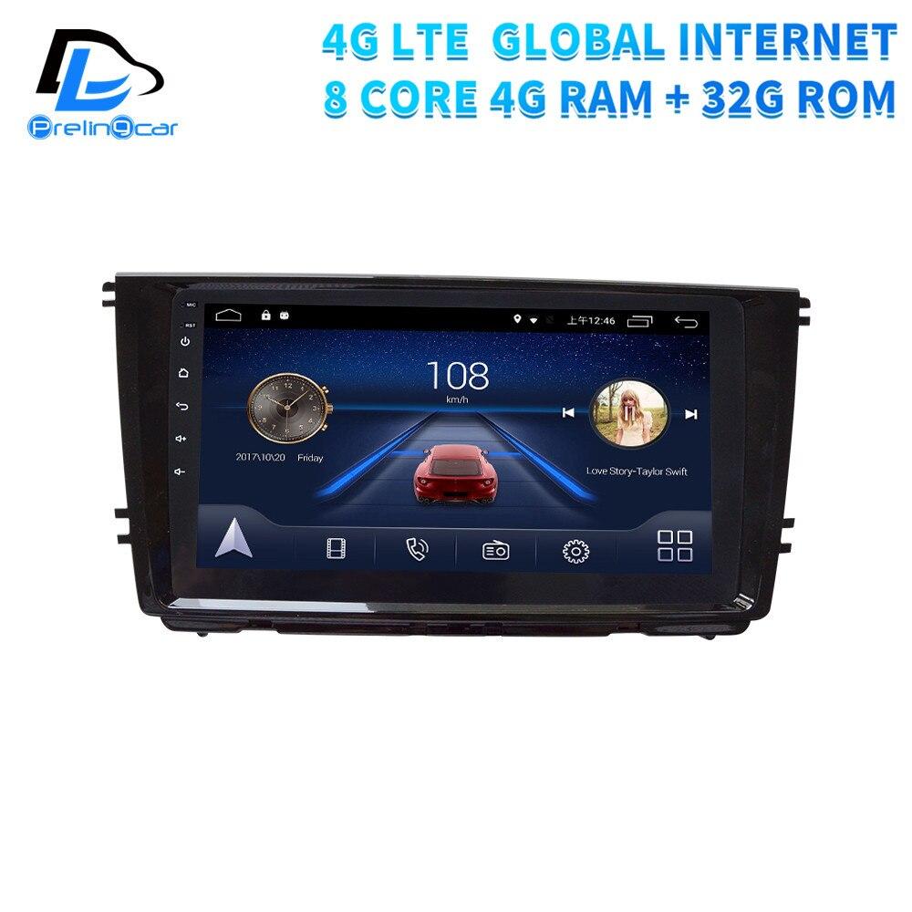 Lecteur de GPS de navigation multimédia de voiture d'android 9.0 de 4G Lte pour le tableau de bord de Volkswagen VW Lamando 14-18 ans stéréo de Radio d'écran d'ips