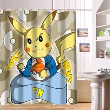Pokemon Fabric Modern Waterproof Shower Curtain