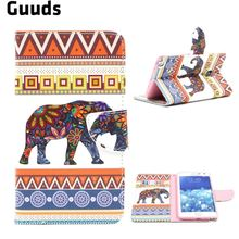 For Samsung N915 Case Tribal Elephant Leather Wallet Case for Samsung Galaxy Note Edge N915 N915V N915A FREE SHIPPING