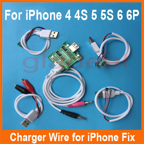 Smart Phone Repair Power Charger Line Wire Cable For iPhone 4/4s/5/5s/6/6 Plus Battery Activator Repair Tools multifunctional dc voltage regulator stabilizer cable wire power supply interface cable line mobile phone repair tools usb