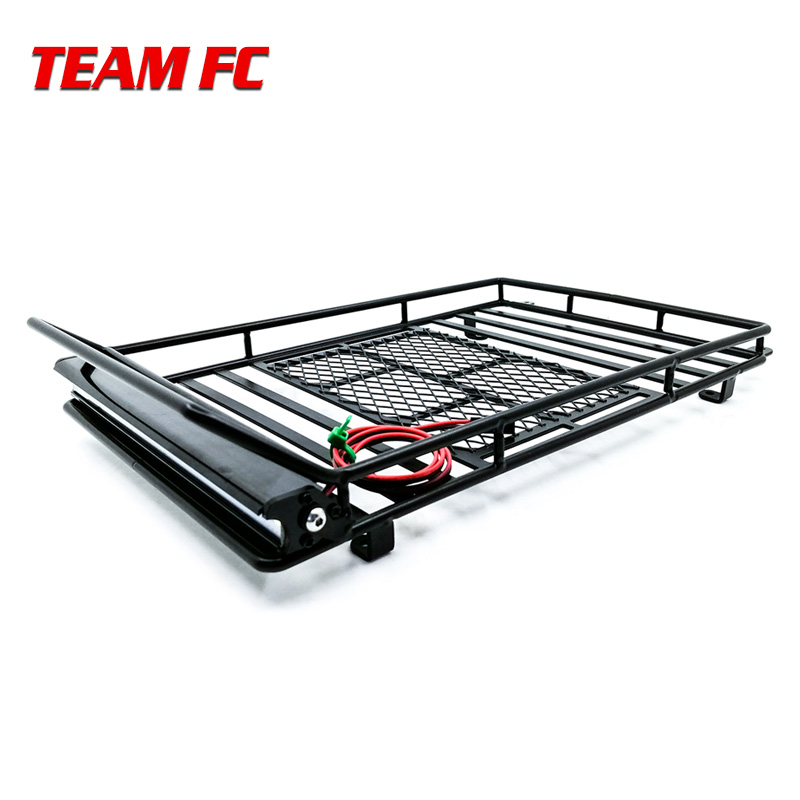 Metal Roof Rack Luggage Carrier with 36 LED Spotlight bar For 1/10 RC Car Traxxas Trx4 RC4WD Cherokee Wrangler Axial Scx10 S38Metal Roof Rack Luggage Carrier with 36 LED Spotlight bar For 1/10 RC Car Traxxas Trx4 RC4WD Cherokee Wrangler Axial Scx10 S38