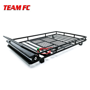 Metal Roof Rack Luggage Carrier with 36 LED Spotlight bar For 1/10 RC Car Trx4 RC4WD Cherokee Wrangler Axial Scx10 S38(China)