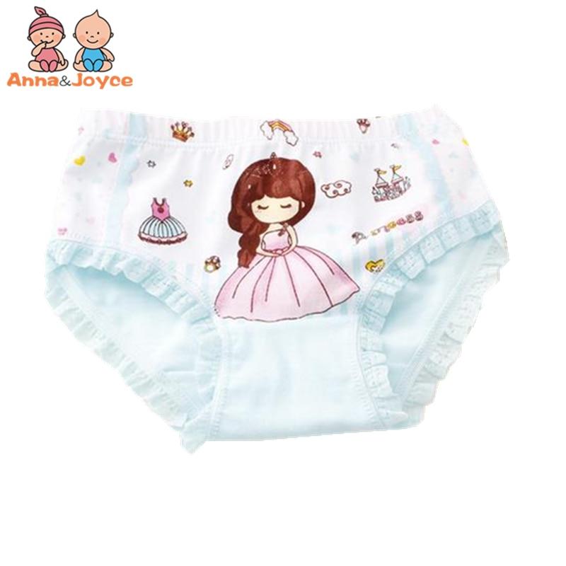 4pcs/lot Cute Kids Underwear Girls   Panties   Briefs Cartoon Princess Triangle Children's Underwear Cotton Underwear TNN0161