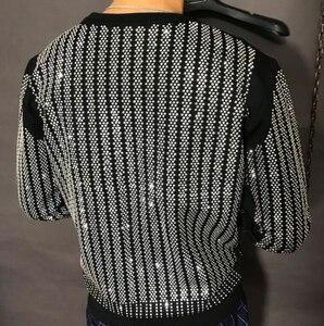 Image 3 - Pullover Oversized Men Autumn Winter 2019 Sweatshirt  Hip hop diamond design  HJ98