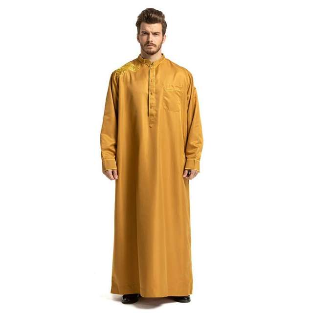 Thobe Arabic Islamic Abayas Indian Mens Dress