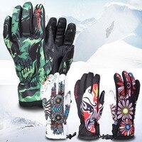 Boodun Ski Gloves Skiing Motorcycle Gloves Waterproof Snowboard Gloves Winter Warm Windproof Protective Gloves
