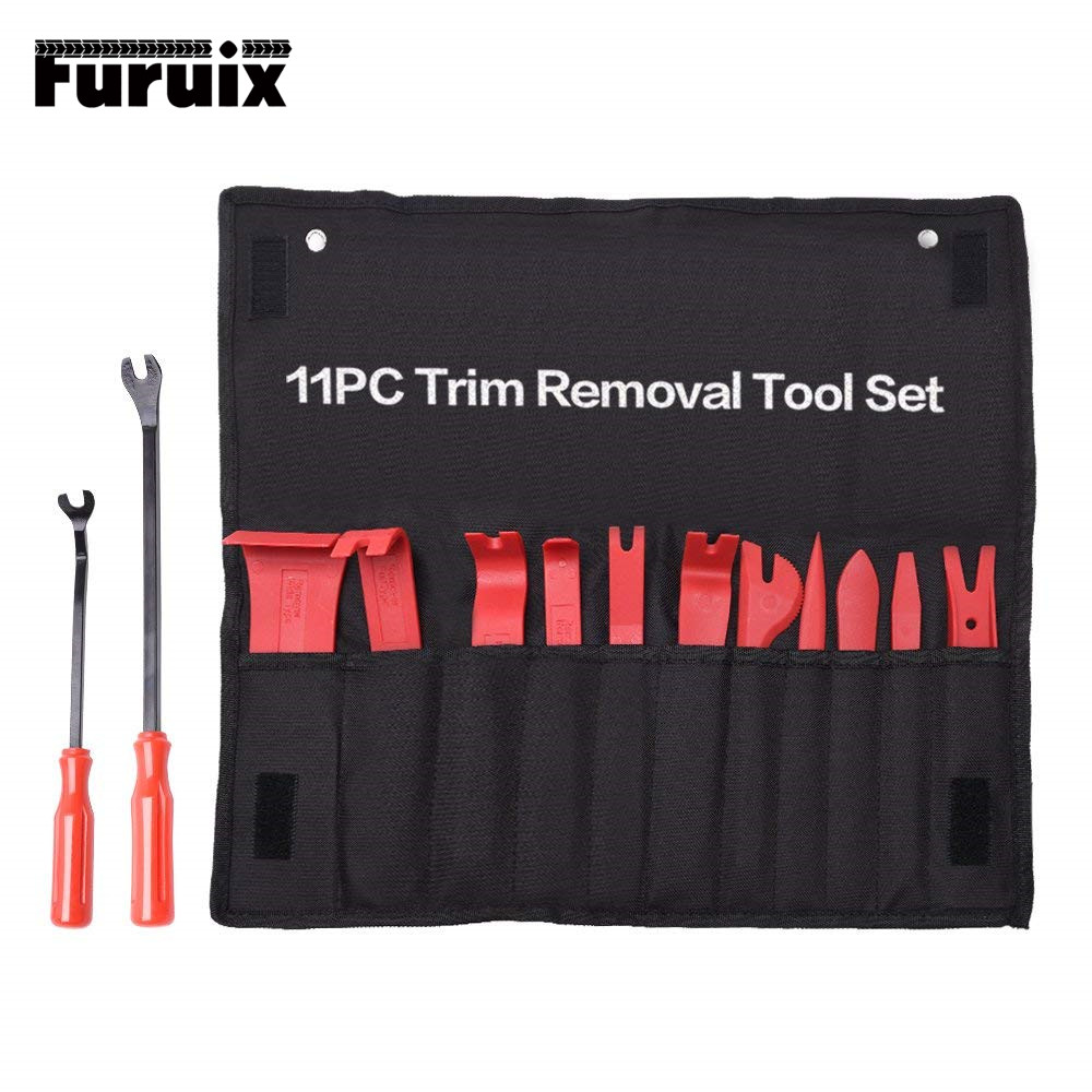FURUIX Auto Trim Removal Tool Set  Car Auto Radio Audio Repair Kit Door Dash Trim Pry Clip Stereo Panel Installer