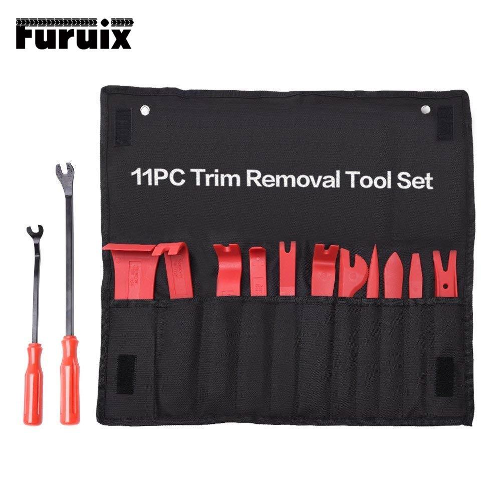 FURUIX Auto Trim Removal Tool Set  Car Auto Radio Audio Repair Kit Door Dash Trim Pry Clip Stereo Panel Installer