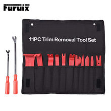 Furuix conjunto de ferramentas de remoção de guarnição do carro auto rádio kit de reparo de áudio porta traço guarnição pry clipe painel estéreo instalador