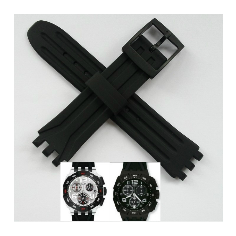 Silicone Rubber Watch Band Strap Accessories For Swatch Swatch Strap Silicone Silicone Strap 18mm For Swatch SUIK400 SUIB400