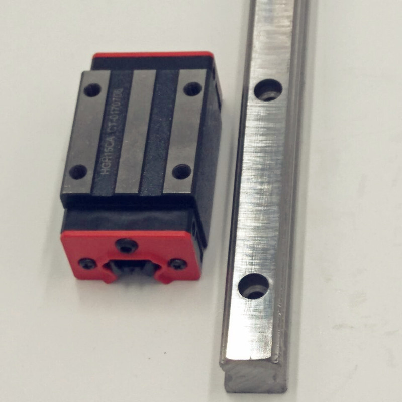 HBH15- L750mm Linear Guide Rail  With 2pcs Linear Guide Blocks HGH15CA CNC free shipping to argentina 2 pcs hgr25 3000mm and hgw25c 4pcs hiwin from taiwan linear guide rail
