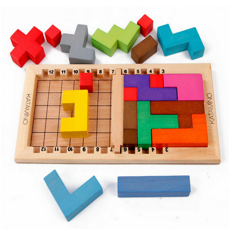 Free shippin wooden building blocks Katamino toys, intellectual blocks, children's toys / adult intelligence toys lagopus classic bricks blocks game stacked layers hard wood building intellectual wooden toys