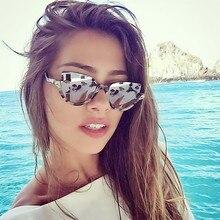 MOLGIRL 2017 New Half Frame Sunglasses Women Brand Designer Vintage Sexy Cat Eye Sun Glasses Fashion Retro Eyewear Hot Oulos