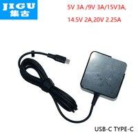 JIGU Rapide Chargeur Type-C Puissance Adaptateur 45 W 5 V 9 V 12 V 3A 14.5V2A 15V3A 20V2. 25A pour MacBook Pro Ordinateur Portable Tablet Téléphone USB-C Dispositif