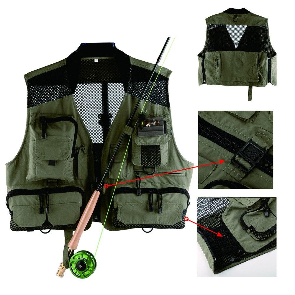 ФОТО Top Quality Men's Fly Fishing Vest Outdoor Mesh /Multi-Pockets Fishing Vest