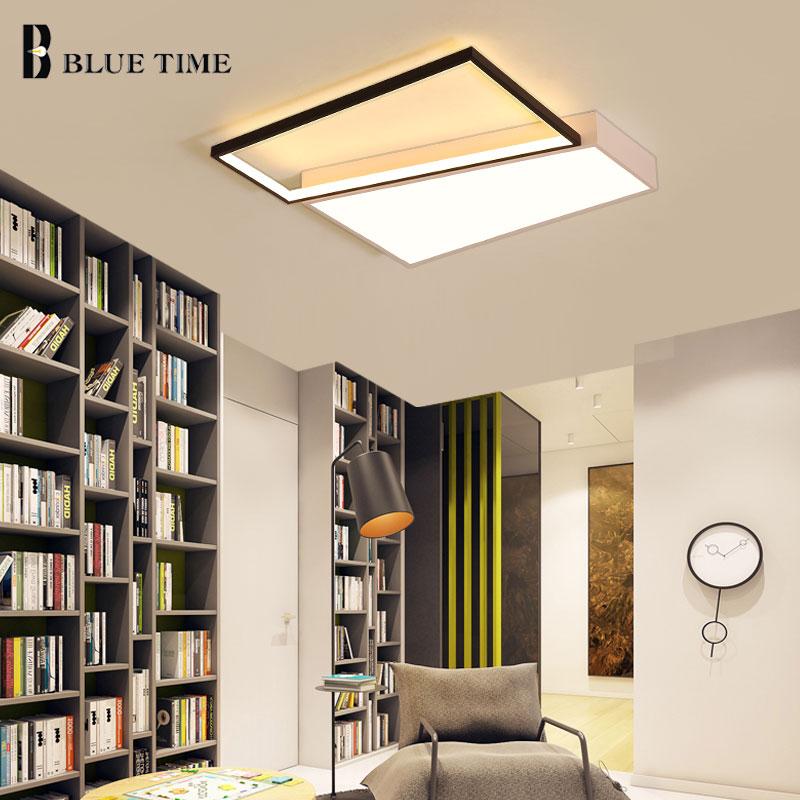 New Design Light Fixtures Modern Led Ceiling Lamps For Living Room Bedroom Acrylic Lampshade Home Ceiling Lighting AC110V 220V .