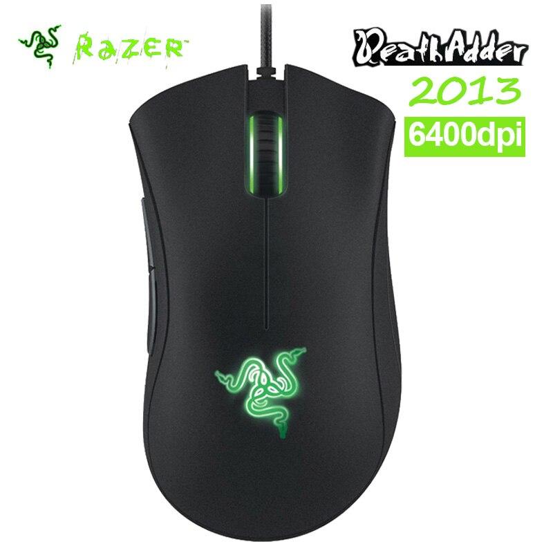 Оригинал Razer Deathadder 2013 6400 ТОЧЕК/ДЮЙМ 4 Г игры мышь Абсолютно Новый Без Розничной Коробке Suppot Razer Synapse 2.0 + подарок мышь, сумка купить на AliExpress