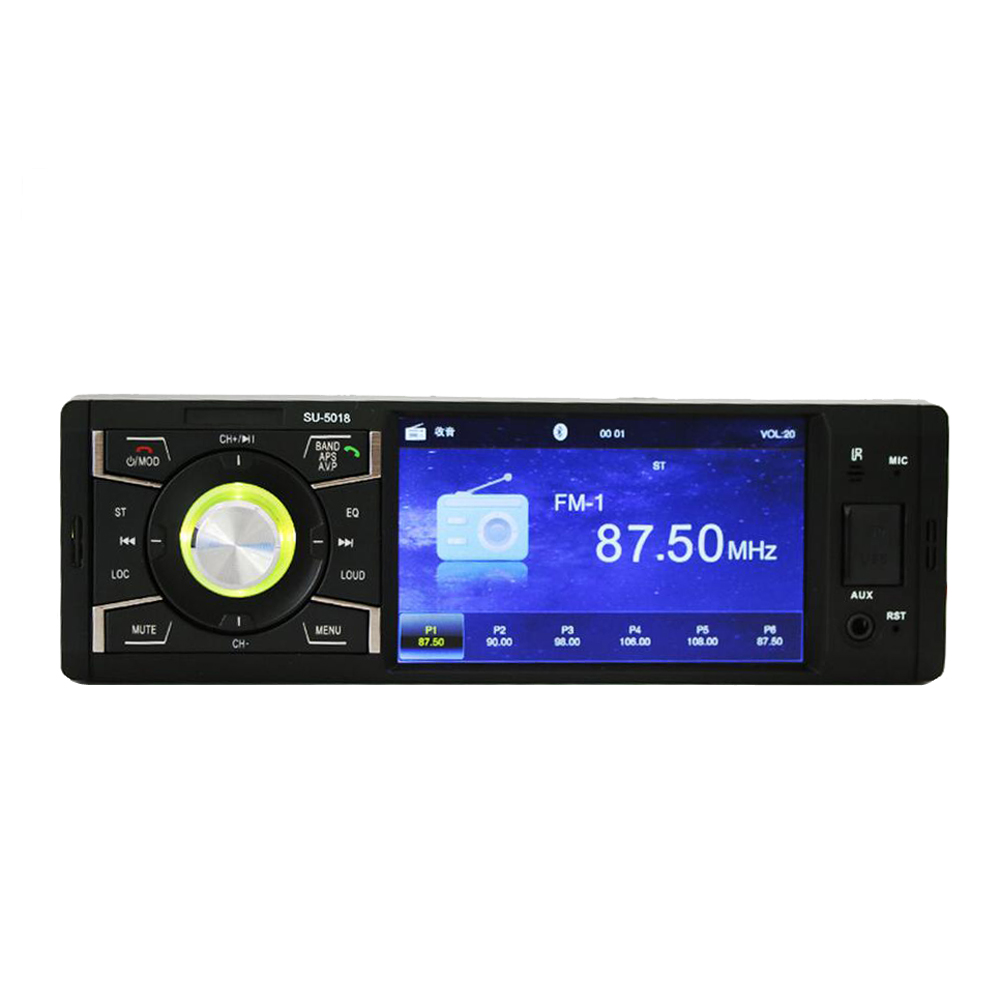 autoradio bluetooth car audio player car radio tuner 1 DIN with HD Digital Screen FM MP3 MP4 Player Reverse Image SD USB Charger image