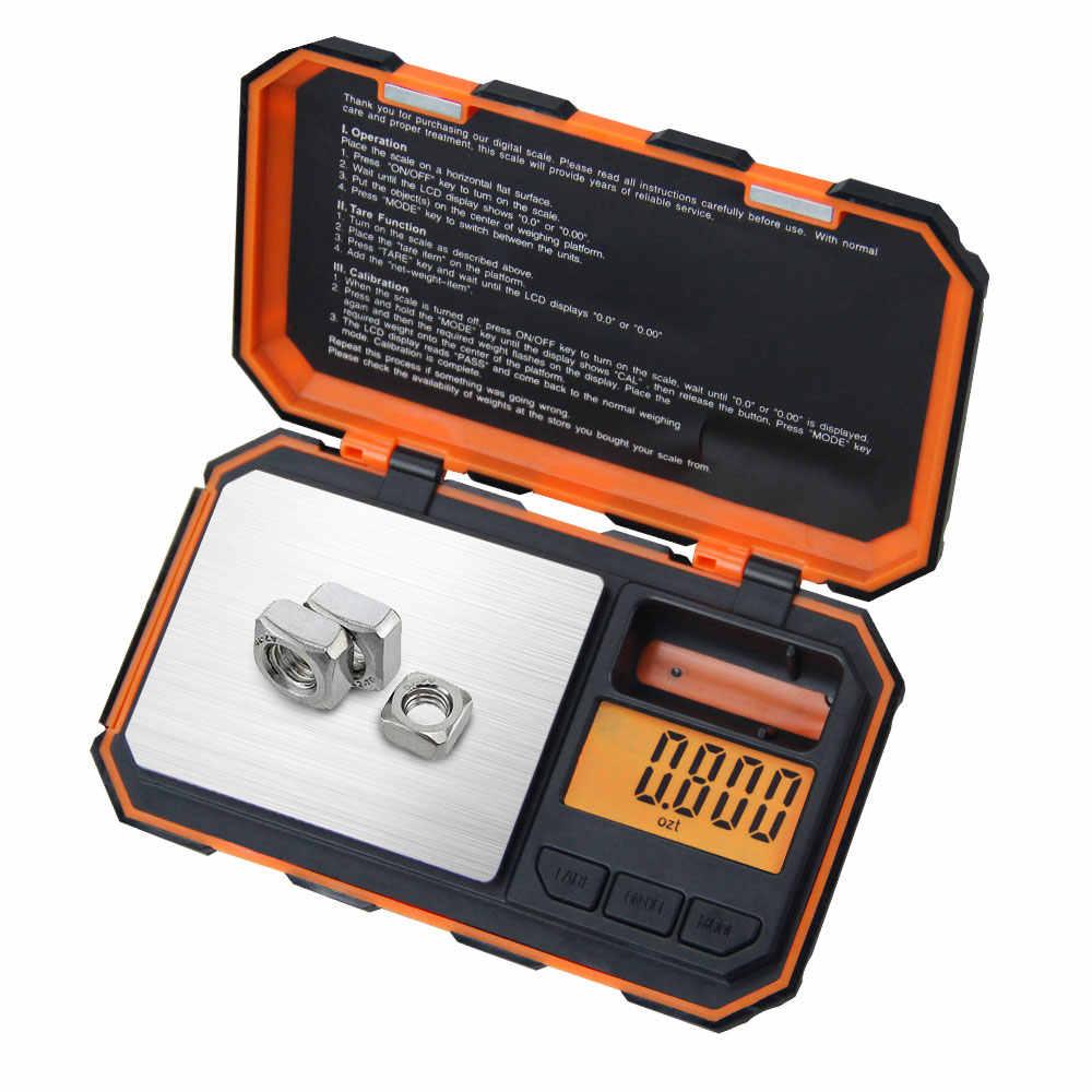 Waga cyfrowa do złota srebrna biżuteria 0.01 waga elektroniczna ze skalą Min. Bardzo dokładna stal nierdzewna Premium