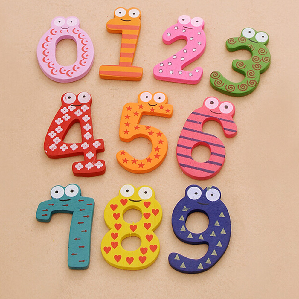 Math Toys Learning & Education 0-9 Numbers With Magnetic Wooden Number Math Set For Kids Children Preschool Home School Gift