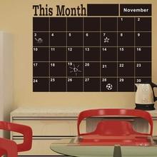 Monthly Chalkboard Board Blackboard Removable Wall Sticke For Vinilos Paredes Month Plan Calendar Chalkboard DIY Home Decor