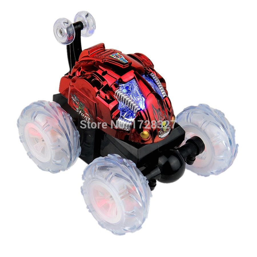 Light music feature color wheel dump truck stunt acrobatics Stone remote control car children toy car fashion rc car in RC Cars from Toys Hobbies