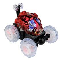 Light music feature color wheel dump truck stunt acrobatics Stone remote control car, children toy car, fashion rc car