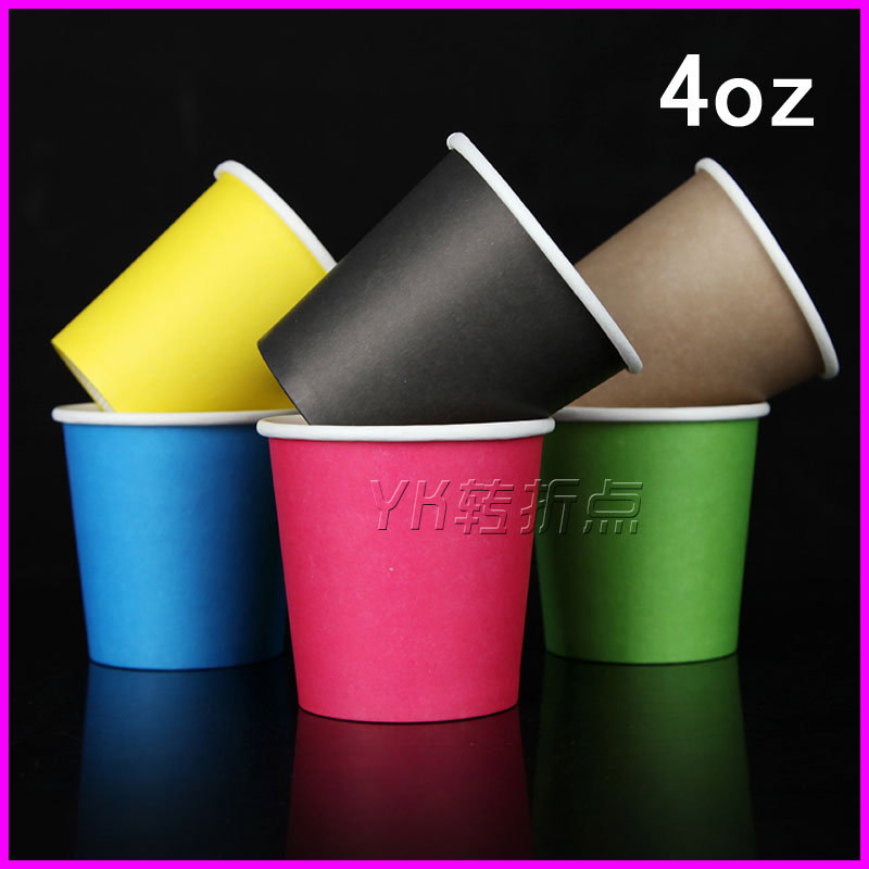 4oz Colored Disposable Small Paper Cups Single Layer Mulli Tasting Cup Drinkware In Saucers From Home Garden On Aliexpress Alibaba Group