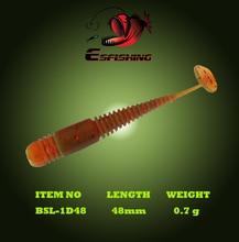 Ice Fishing 10pcs Soft Lure Bait 4.8cm/0.7g Esfishing Artificial Soft Bait Vibro Worm 1.9″ Swimbait Tackle Wobblers Jig