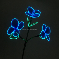 Newest DC5V Inverter Blinking EL Cold Light Silk Net Flower Halloween Outdoor Decor Led Neon Novelty