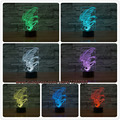 7 Color Change Lovely hippocampus Night Light 3D Cartoon Led Lamp Touch Novelty Light visual illusion Birthday Party Child Gifts