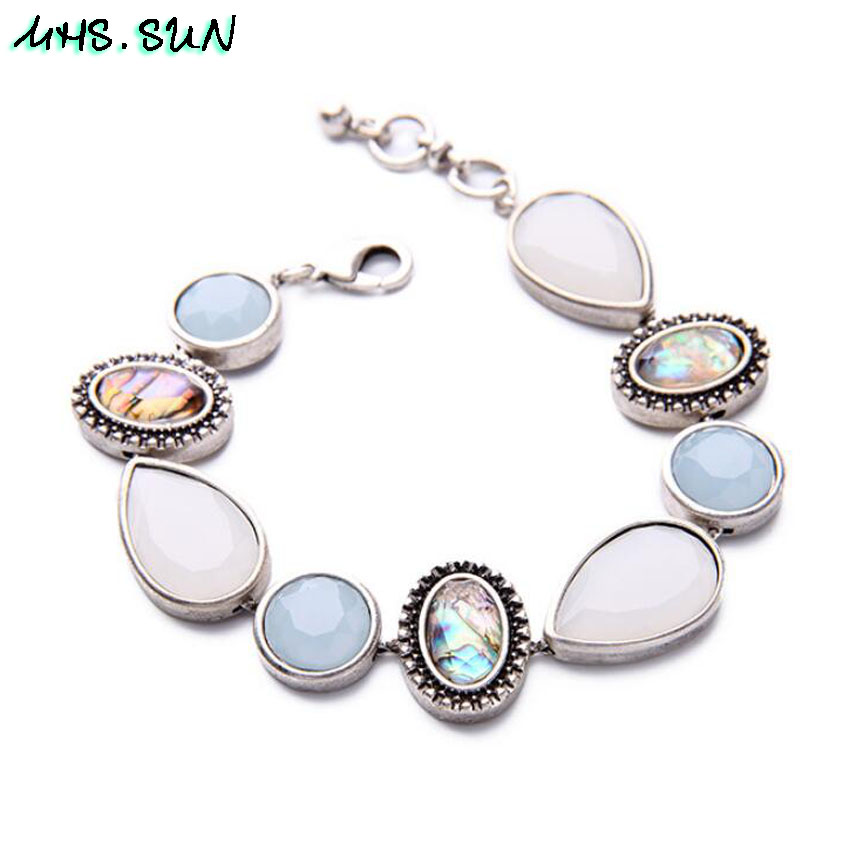 41,BX041,$5.85,Fashion Design Women Crystal Shell Bracelets Bangles European Style Bohemia All-Match Bracelets OL Jewelry Accessories