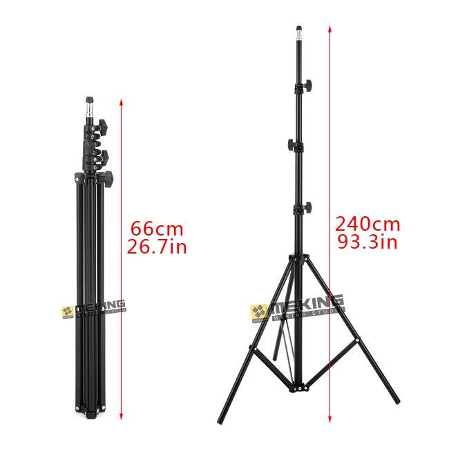 цена на Meking 260cm 93.3in Light Stand MD-2400 tripod for lighting support system photographic steadycam steadicam