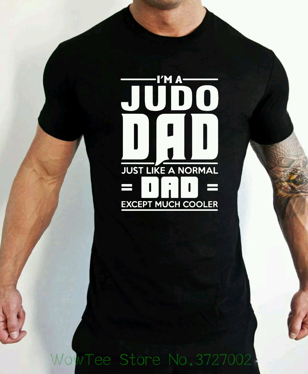 Judo Dad T-shirt Martial Artist Fathers Day Birthday Present T-shirt Men High Quality Tees