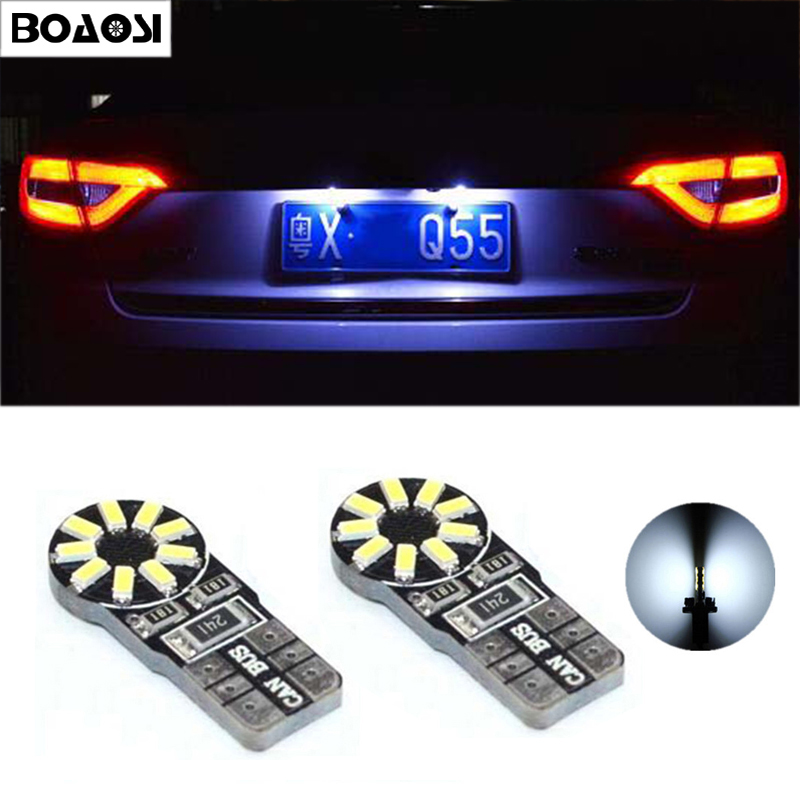 BOAOSI 2x T10 W5W Car <font><b>LED</b></font> <font><b>Light</b></font> <font><b>Bulbs</b></font> License Plate Lamp For <font><b>mazda</b></font> 3 Axela <font><b>mazda</b></font> <font><b>6</b></font> <font><b>mazda</b></font> cx-5 ATENZA image