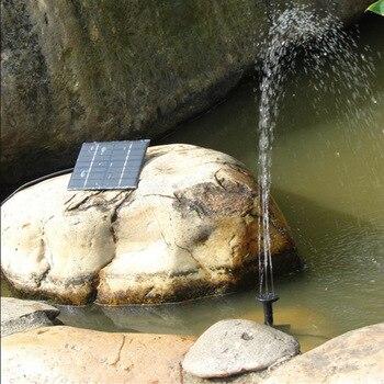 Brunnen Im Freien | CHICLITS Solar Brunnen Solar Garten Brunnen Künstliche 3 Verschiedene Sprühköpfe Outdoor Home Familie Park Dekoration