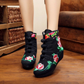 New autumn Flower embroidery Retro fashion women Short boots winter boots for women free shipping zapatos mujer