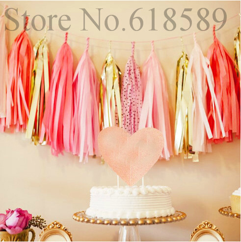 14 Inch Tissue Paper Tassel Garland Diy Wedding Decoration Paper Flower Decorations Birthdays Party  Decorations Event Gift Pack