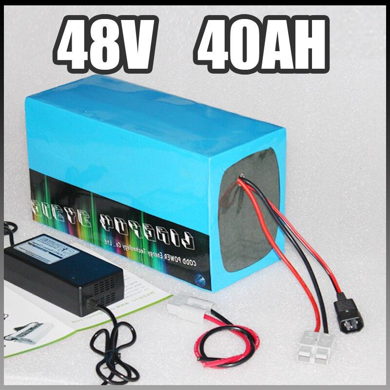 48 В 3000 Вт Электрический велосипед Батарея 48 В 40ah samsung Электрический велосипед литий-ионный Батарея с BMS Зарядное устройство 48 В Батарея обнов...