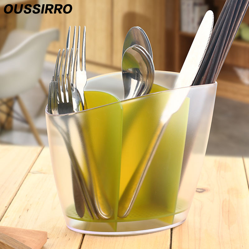 1 PS+PP Material Toothbrush Drainer Creative Kitchen Tableware 3 Color Selection Receiving Storage