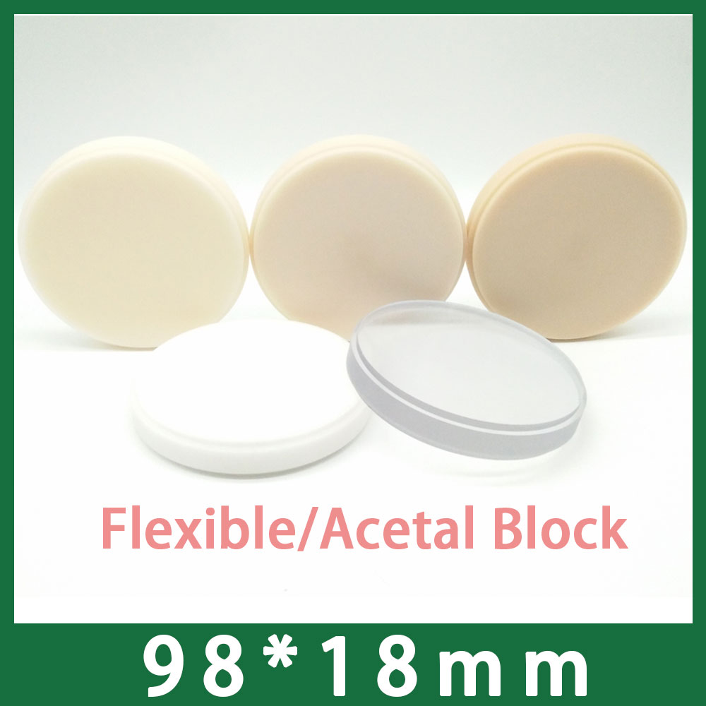 98x18mm Flexible Resin Acetal Disc Dental Lab CADCAM Materials98x18mm Flexible Resin Acetal Disc Dental Lab CADCAM Materials