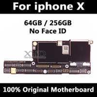 Placa base Original 100% para iPhone X desbloqueado de fábrica placa base sin identificación facial con Chips completos placa lógica del Sistema IOS buen funcionamiento