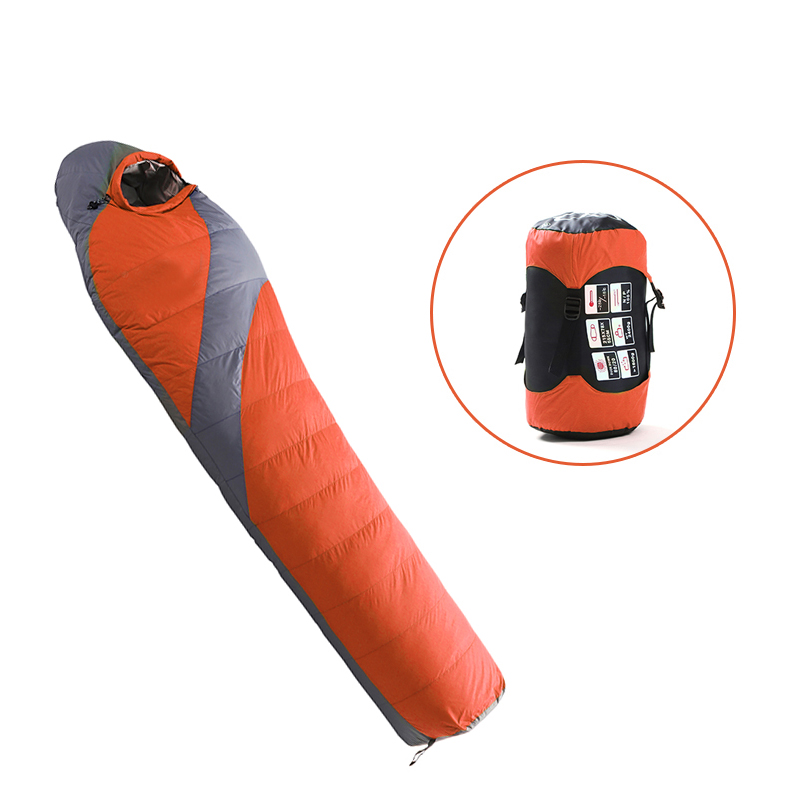 Outdoor Adult Warm Down Sleeping Bag For Winter Camping Tent Waterproof Nylon Survival Sleeping Bag Camping Tourism Supplies 5