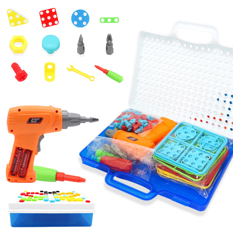 Constructive New 186 Pieces Diy Drill Screw Toys Interactive Design Drill & Play Puzzles Construction Games Building Toys For Kids#293251 Puzzles Toys & Hobbies