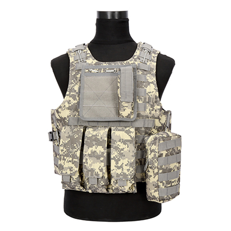 2018 Hunting Vest Camouflage Hunting Military Tactical Vest Wargame Body Molle Armor CS Outdoor Equipment with 5 Colors