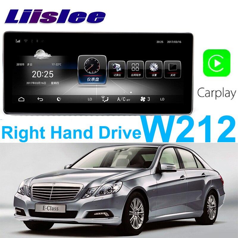 Liislee автомобильный мультимедийный плеер NAVI для Mercedes Benz MB E W212 E200 2009 ~ 2017 правый руль автомобиля радио стерео gps навигации